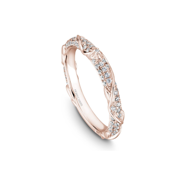 Noam Carver 14K Rose Gold & Diamond Wedding Band SVS Fine Jewelry Oceanside, NY
