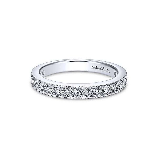 Gabriel & Co. Victorian White Gold Diamond Band SVS Fine Jewelry Oceanside, NY