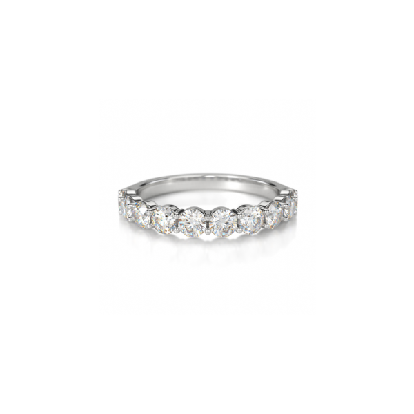 Crown Ring 14K White Gold & Diamond Wedding Band SVS Fine Jewelry Oceanside, NY