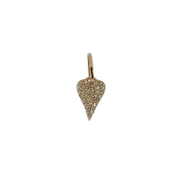 SVS Fine Collection Yellow Gold Diamond Heart Charm SVS Fine Jewelry Oceanside, NY