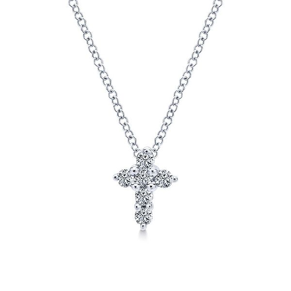 Gabriel & Co. Faith Collection 14K White Gold Necklace SVS Fine Jewelry Oceanside, NY