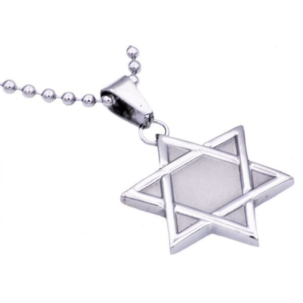 Men's Stainless Steel Star Of David Pendant SVS Fine Jewelry Oceanside, NY