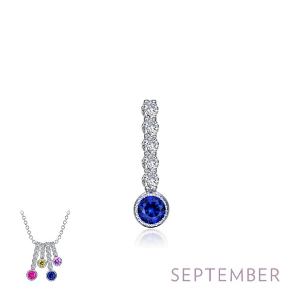 Lafonn Silver September Birthstone Love Pendant SVS Fine Jewelry Oceanside, NY