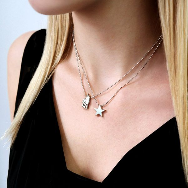 Alex Woo Little Princess Sterling Silver Star Necklace Image 2  ,