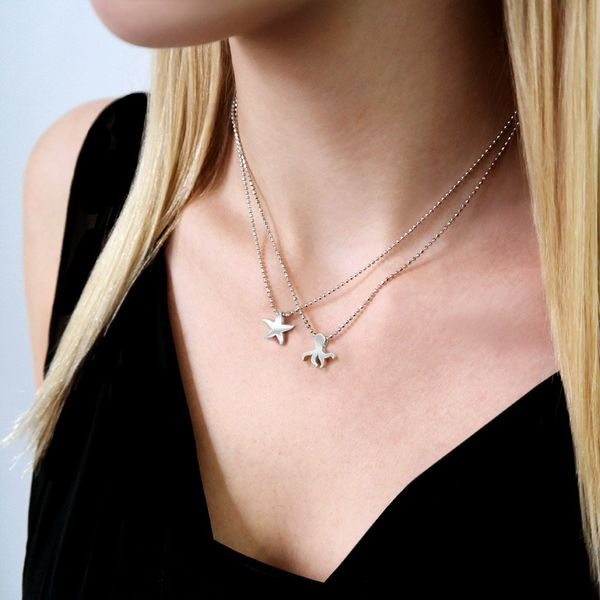 Alex Woo Little Seasons Sterling Silver Starfish Necklace Image 2  ,