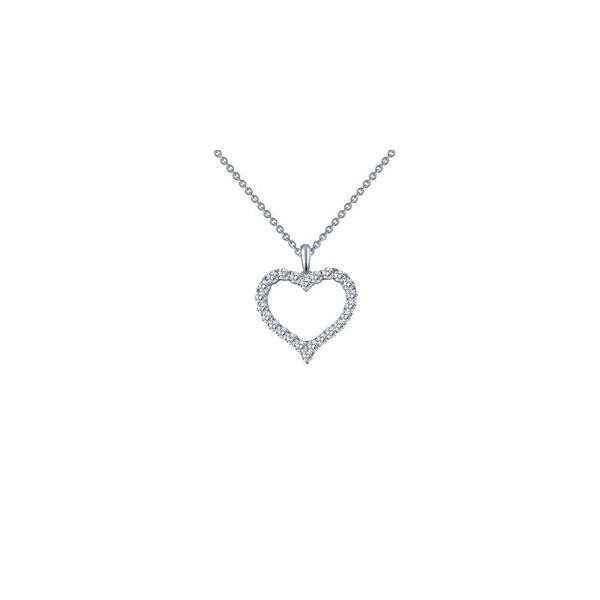 Lafonn Silver Heart Necklace, 18