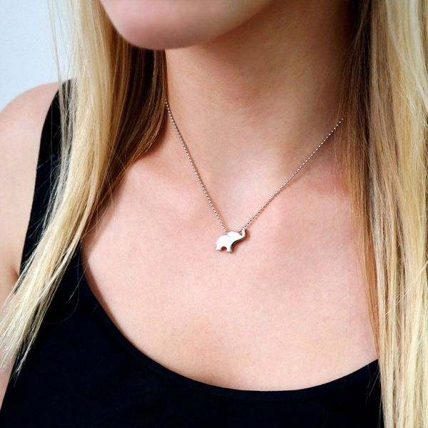 Alex Woo Little Luck Sterling Silver Elephant Necklace Image 2 SVS Fine Jewelry Oceanside, NY