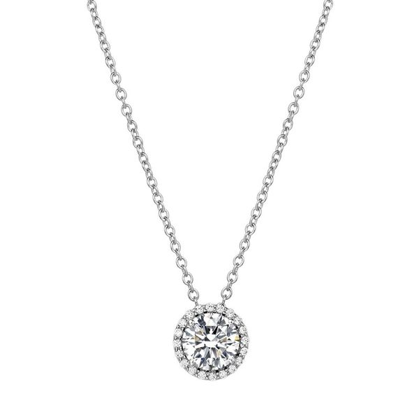 Lafonn Silver Birthstone Necklace - April - Diamond SVS Fine Jewelry Oceanside, NY