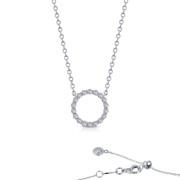 Lafonn Silver Open Circle Necklace, 20