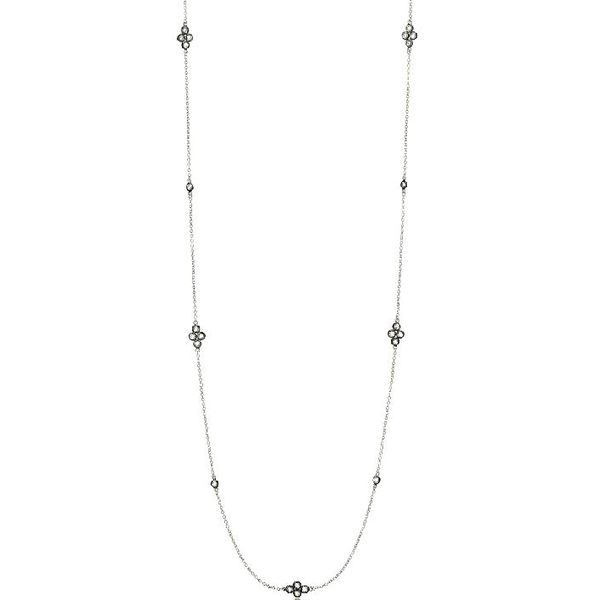 Freida Rothman Signature Four Point Station Necklace SVS Fine Jewelry Oceanside, NY