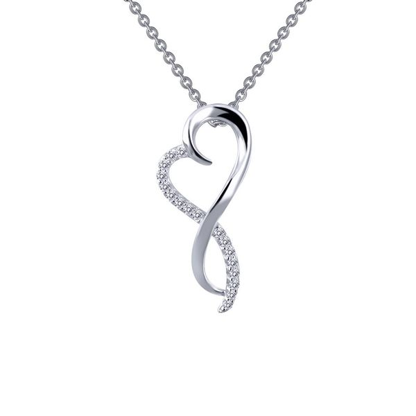 Lafonn Silver Infinity Heart Necklace, 18