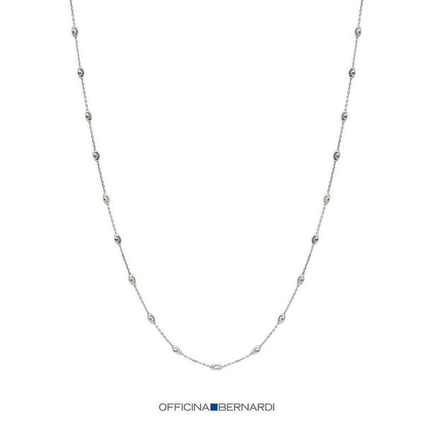Officina Bernardi Core Collection Silver Platinum Necklace SVS Fine Jewelry Oceanside, NY