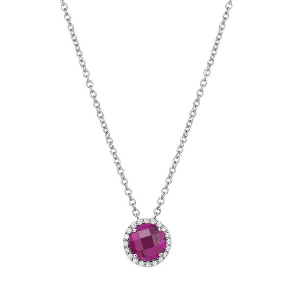 Lafonn Birthstone Necklace - July - Ruby SVS Fine Jewelry Oceanside, NY
