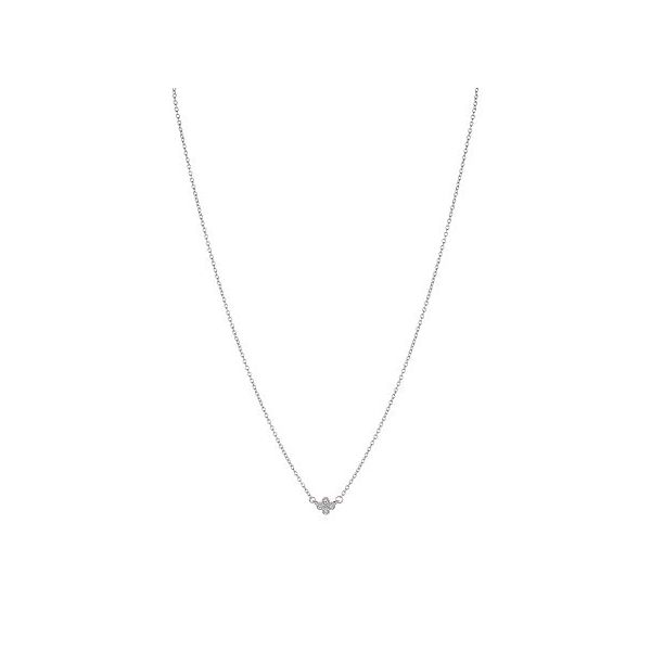 Freida Rothman Mini Clover Necklace SVS Fine Jewelry Oceanside, NY