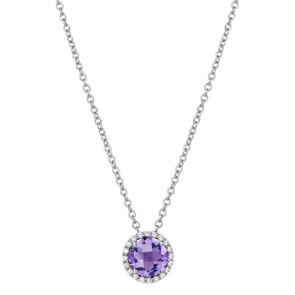Lafonn Birthstone Necklace - February - Amethyst SVS Fine Jewelry Oceanside, NY