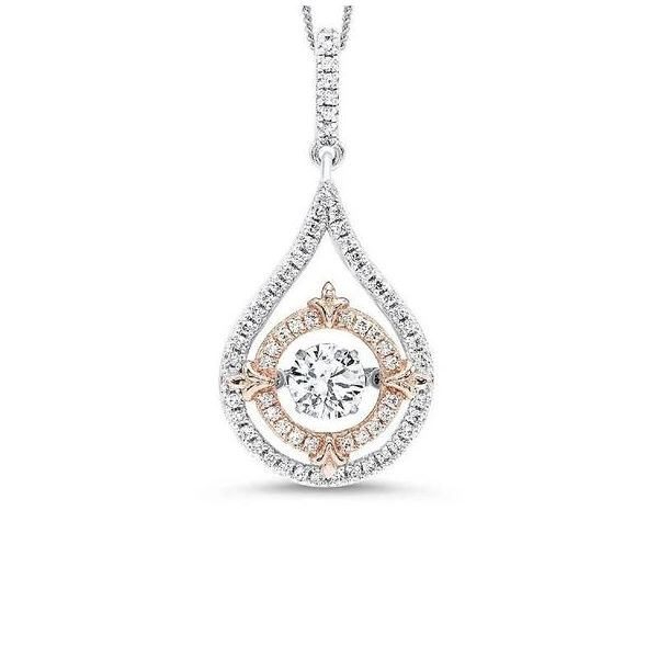 Rhythm of Love White & Pink Cubic Zirconia Pendant SVS Fine Jewelry Oceanside, NY