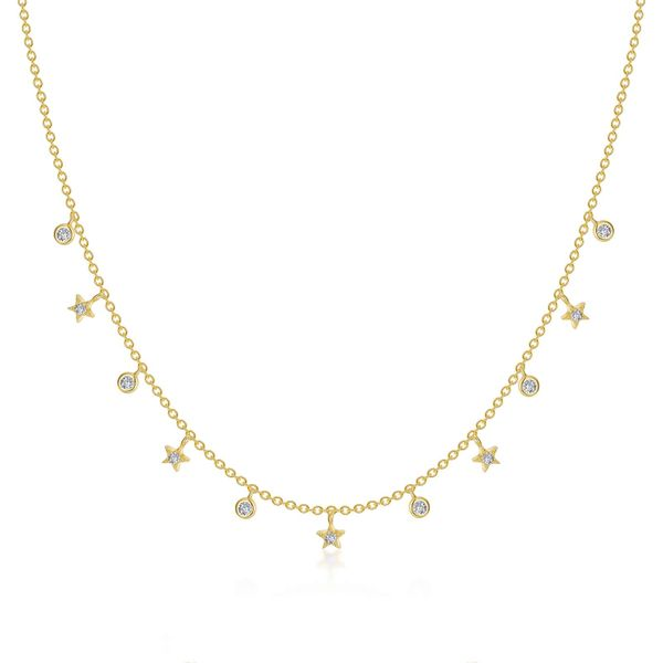 Lafonn Yellow Dangle Star Necklace, .42ctw SVS Fine Jewelry Oceanside, NY