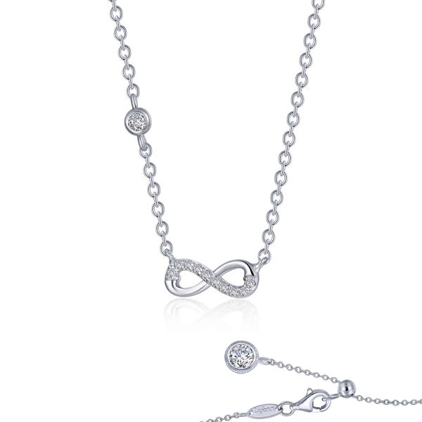 Lafonn Infinity Necklace, 0.36ctw SVS Fine Jewelry Oceanside, NY