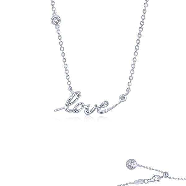 Lafonn Love Necklace, 0.28Cttw SVS Fine Jewelry Oceanside, NY