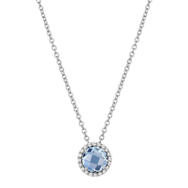 Lafonn Birthstone Necklace - March - Aquamarine SVS Fine Jewelry Oceanside, NY