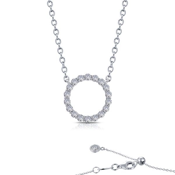 Lafonn Open Eternity Circle Necklace, 1.15ctw SVS Fine Jewelry Oceanside, NY