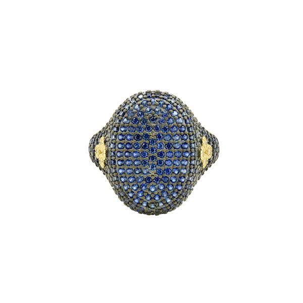 Freida Rothman Midnight Pavé Cocktail Ring, Size 7 SVS Fine Jewelry Oceanside, NY