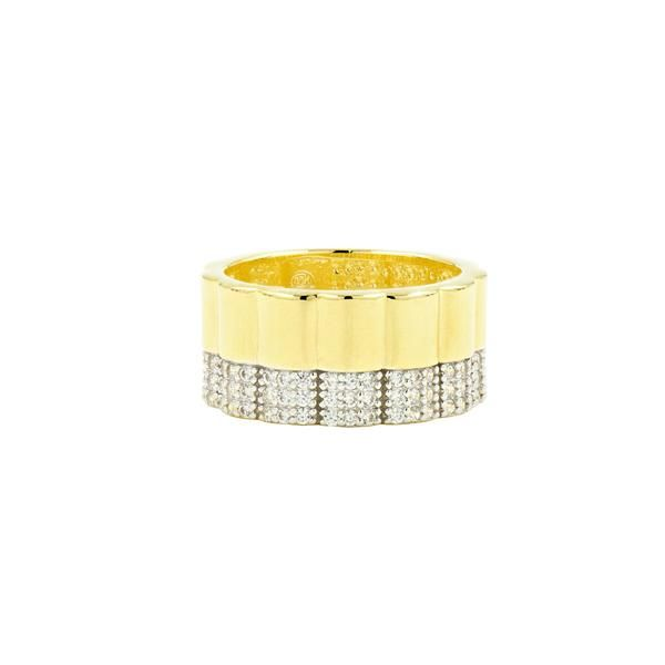 Freida Rothman Radiance Wide Band Ring, Size 6 SVS Fine Jewelry Oceanside, NY
