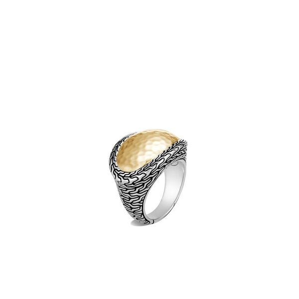 John Hardy Chain Collection Silver & Yellow Gold Ring SVS Fine Jewelry Oceanside, NY