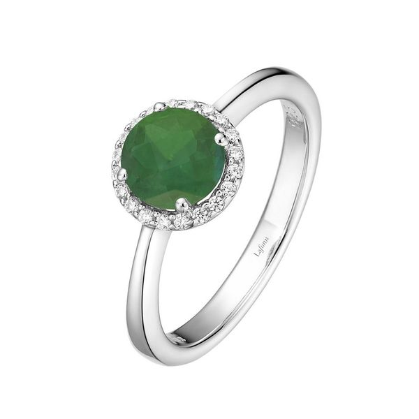 Lafonn Silver Birthstone Ring - May - Emerald SVS Fine Jewelry Oceanside, NY