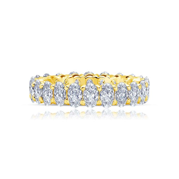 Lafonn Silver Yellow Anniversary Eternity Band SVS Fine Jewelry Oceanside, NY