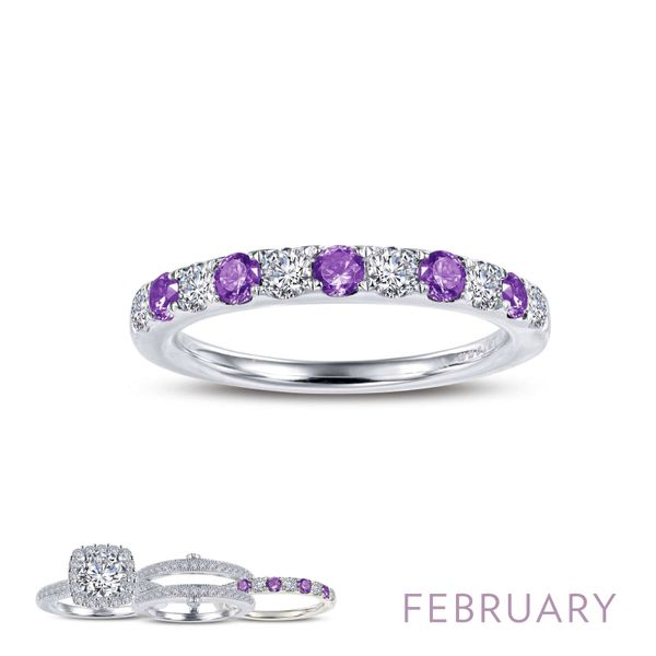 Lafonn February Birthstone Ring, 0.51Cttw SVS Fine Jewelry Oceanside, NY