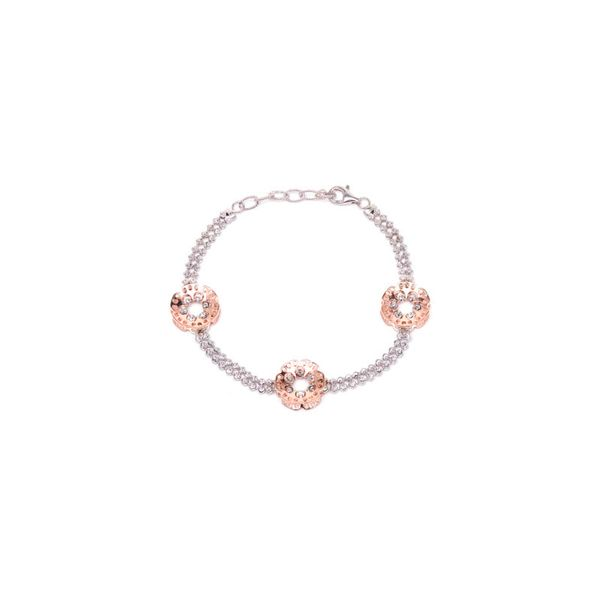 Officina Bernardi Silver Two Row Bracelet (Calicanto), 6.5