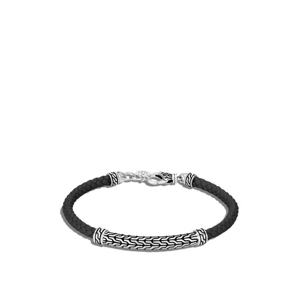 John Hardy Chain Collection Silver And Leather Bracelet SVS Fine Jewelry Oceanside, NY