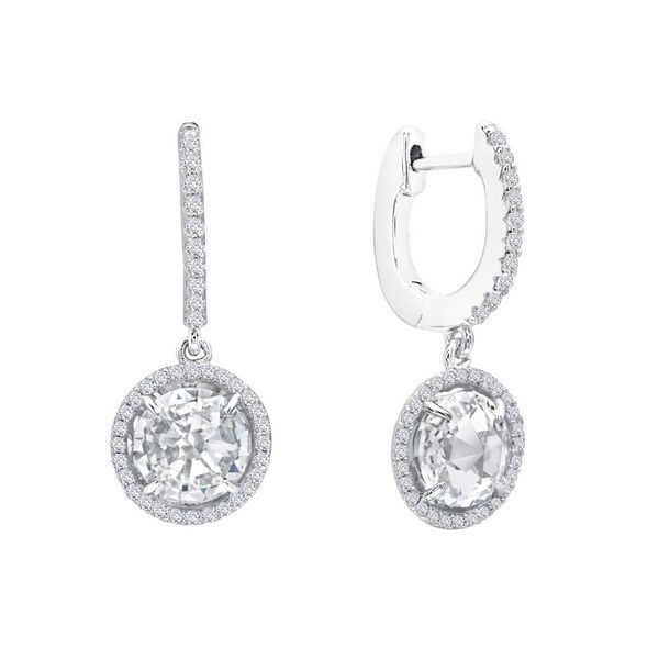 Lafonn Silver English Lock Drop Earrings, 2.03cttw SVS Fine Jewelry Oceanside, NY