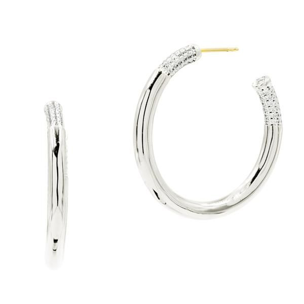 Freida Rothman Radiance Hoop Earrings SVS Fine Jewelry Oceanside, NY