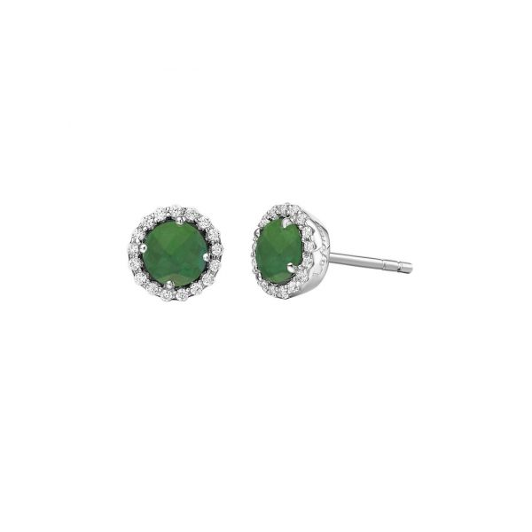 Lafonn Silver Birthstone Earrings - May - Emerald SVS Fine Jewelry Oceanside, NY