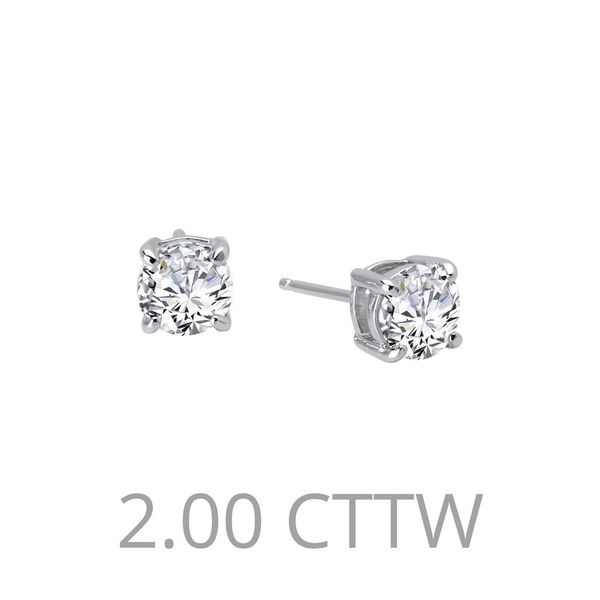 Lafonn Silver Stud Earrings, 2.00cttw SVS Fine Jewelry Oceanside, NY