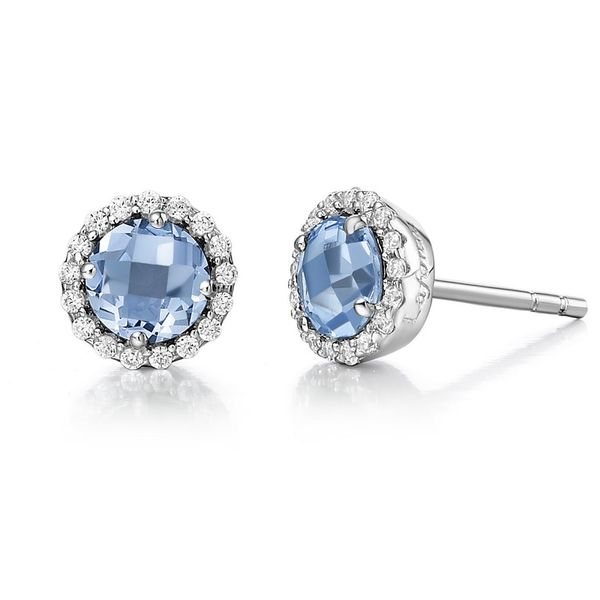 Lafonn Silver Birthstone Earrings - December - Blue Topaz SVS Fine Jewelry Oceanside, NY