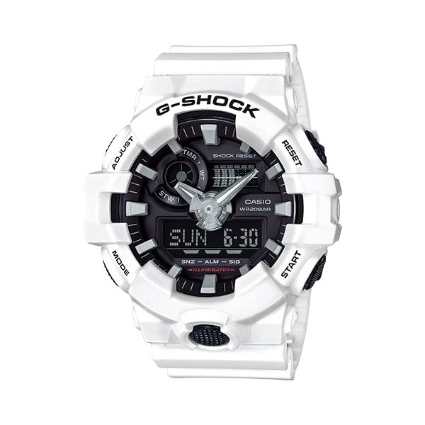 Casio G-Shock Men's Analog-Digital White Resin Watch SVS Fine Jewelry Oceanside, NY