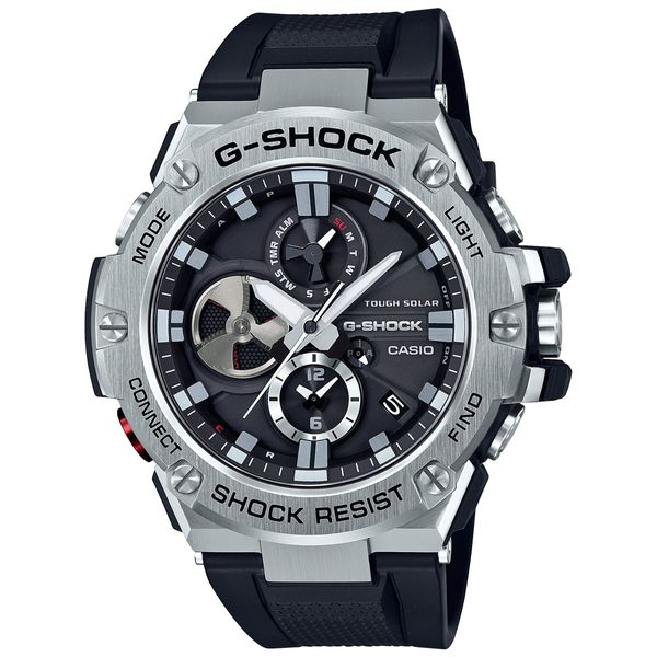 Casio G-Shock Men's Black and Stainless Steel Watch SVS Fine Jewelry Oceanside, NY