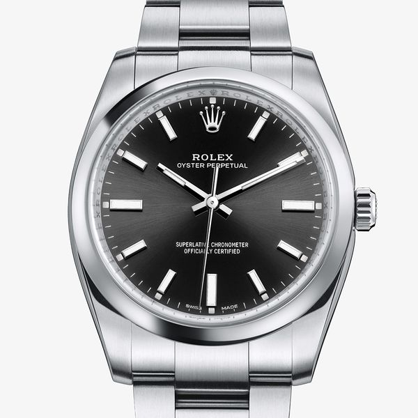 Pre-Owned Rolex Men's Oyster Perpetual 34 Watch SVS Fine Jewelry Oceanside, NY