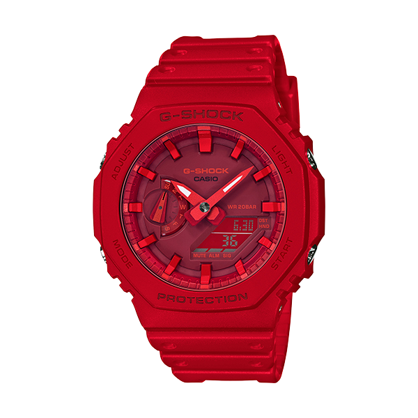 Casio G-Shock Men's Analog-Digital Red Resin Watch SVS Fine Jewelry Oceanside, NY