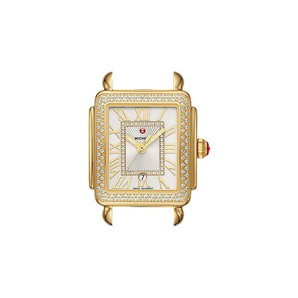 Michele Watch Deco Madison Mid Gold Diamond Watch SVS Fine Jewelry Oceanside, NY