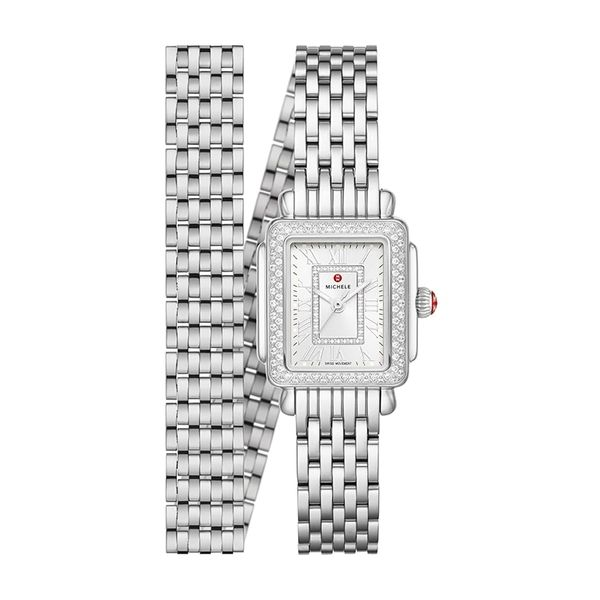 Michele Watch Deco Madison Mini Stainless Diamond Watch SVS Fine Jewelry Oceanside, NY