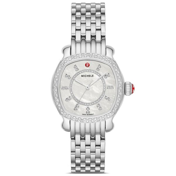 Michele Watch Lilou Stainless Diamond Watch SVS Fine Jewelry Oceanside, NY