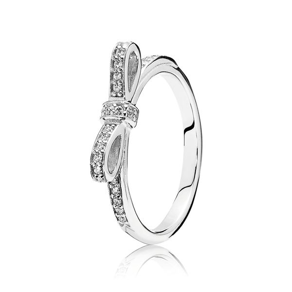 Pandora Timeless Collection Sterling Silver Bow Ring SVS Fine Jewelry Oceanside, NY