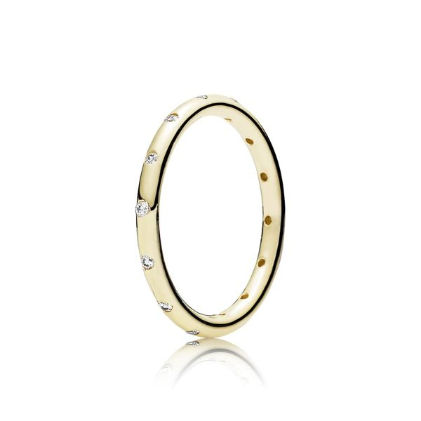 Pandora Timeless Collection 14K Yellow Gold Sparkling Ring SVS Fine Jewelry Oceanside, NY