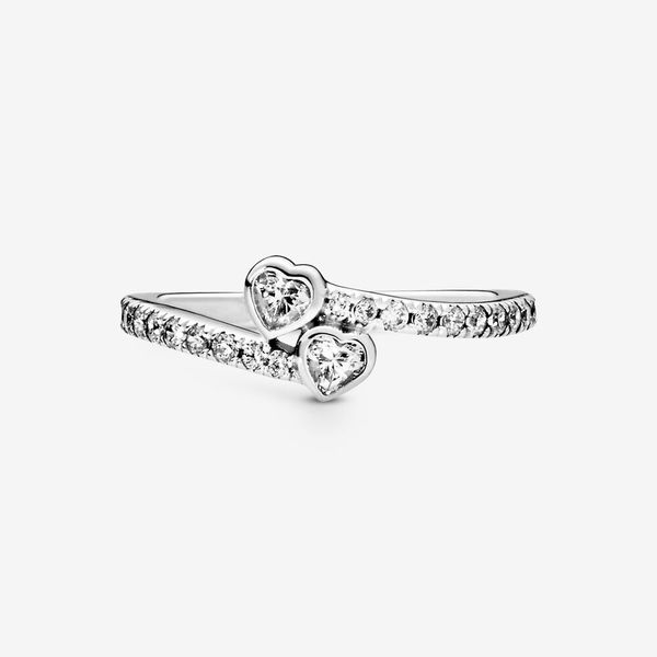 Pandora People Collection Sterling Silver Hearts Ring Image 3 SVS Fine Jewelry Oceanside, NY