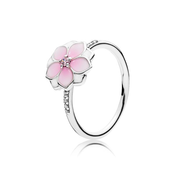 Pandora Garden Collection Sterling Silver Magnolia Ring SVS Fine Jewelry Oceanside, NY