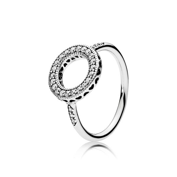 Pandora Signature Collection Sterling Silver Halo Ring SVS Fine Jewelry Oceanside, NY